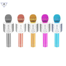 Bluetooth Wireless Microphone WS-858 Handheld Karaoke Mic USB Music KTV Player Bluetooth Speaker With Bags Microphones WS 858 цена и фото