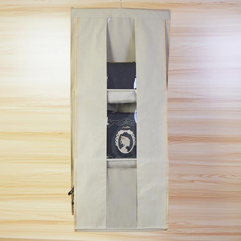 Enthousiast Opknoping Dubbele-side Bag Organizer Stofdicht Doek Garderobe 3d Multi-layer Perspectief Multifunctionele Garderobe Kast Voor Portemonnee Elegante Verschijning