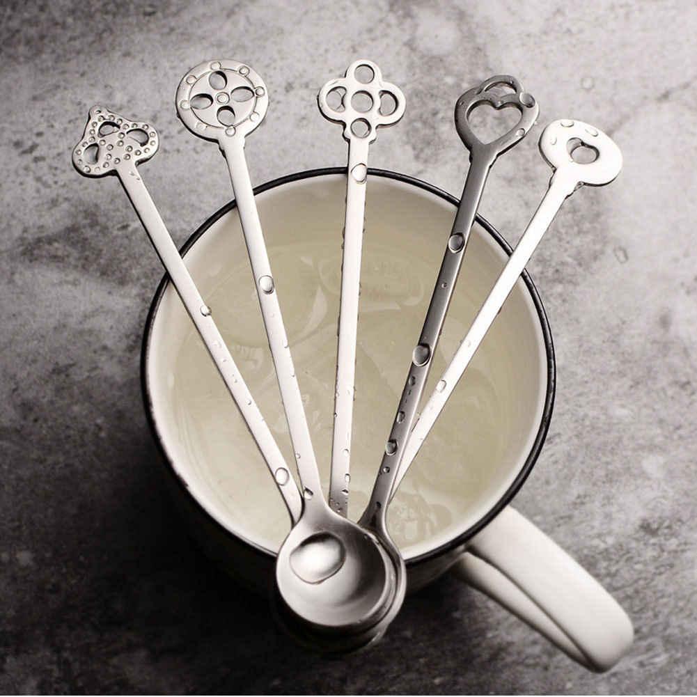 Новинка 2020, популярная кофейная ложка из нержавеющей стали, ложка с длинной ручкой, ложка для мороженого, десерта, чая, RAH