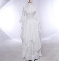 Fashion Female Women Party Dress Princess Sleeve Pullover Gothic Dress Elegant Long Black White Plus Size Dress