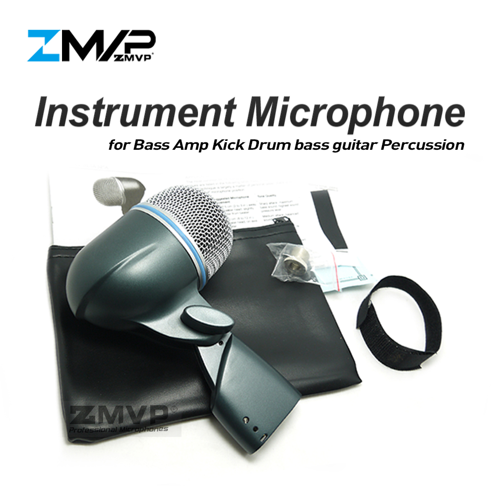 ZMVP Professionnel BETA52A Super Cardioïde Dynamique BETA52 Instrument Microphone Mic Pour Ampli Basse Coup Toms Caisses Claires Percussion