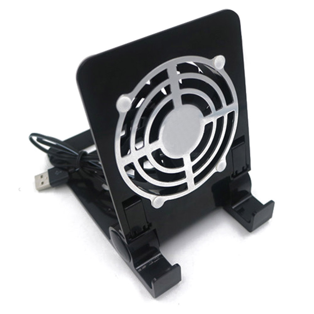Mini Phone Tablet Desktop Stand Holder Phone Radiator Charger Universal Smartphone Cooling Fan Cooler For IOS Android Smartphone