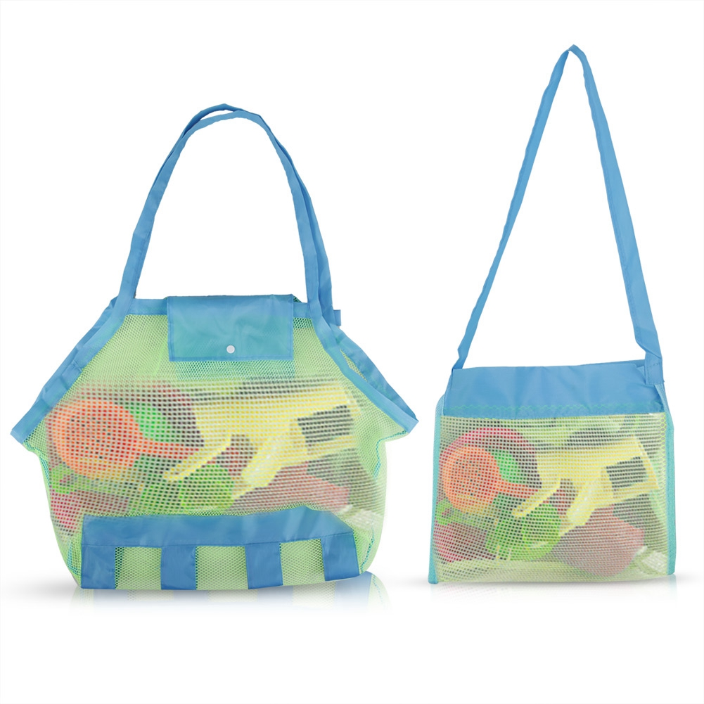 Us 0 99 28 Off New Folding Baby Child Toys Bags Beach Mesh Bag Bath Carrying Net Baskets For Outdoor Hanging In