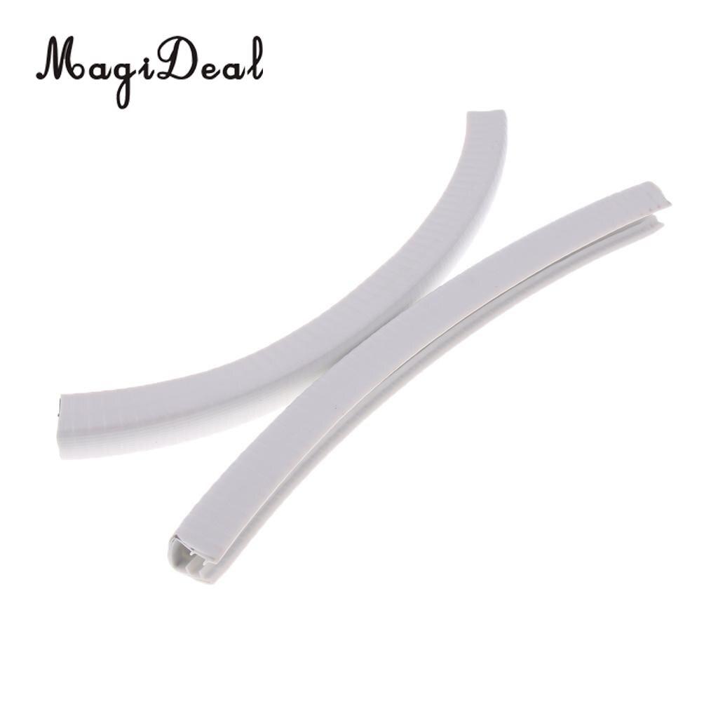 MagiDeal 2pcs Rubber Longboard Skateboard Deck Protection Strip Nose Guard Tail Guard