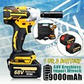 68 V 9000 mAh 520N. m Cordless Agli Ioni di Litio batteria Avvitatore Elettrico Cordless Brushless con la Batteria Ricaricabile AC 100-240 V