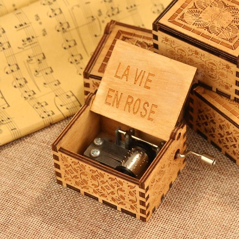 Caja de música de madera antigua caja de música de mano antigua Lámpara de pared de cabecera antigua de estilo americano luces de sala de estar de una sola cabeza lámparas de bar de moda vintage