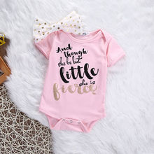 New Born Baby Girl Clothes Outerwear Babys Sets Casual Romper+Headband Suit Roupa Infantil Costume