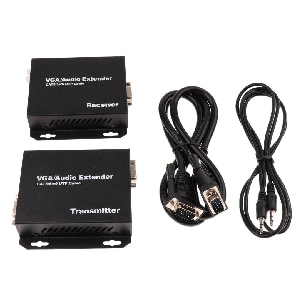 MagiDeal VGA vidéo Extender 200 m/656ft émetteur récepteur RJ45 Cat5e câble 1080 P