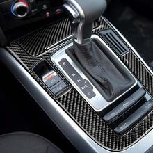 1pc car gear shift panel sticker automotive car carbon fiber styling decorative durable decal for audi a4l q5 a5 1PC Car Gear Shift Panel Sticker Automotive Car Carbon Fiber Styling Decorative Durable Decal for Audi A4L Q5 A5