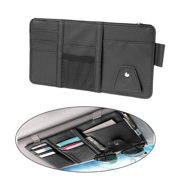 Multi Function Automobile Car Sun Visor Organizer Pouch Storage Bag Case Hanging Card Holder Universal Car Interior Accessories