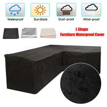 Garden Furniture L Shape Sofa Cover Slipcover Piano Sofa Couch Covers for Living Room Outdoor Waterproof Dustproof