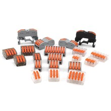 Wago Type Mini Fast Wire Connector 222-412 222-413 222-415 Spl-2 3 Universal Compact Wiring Conductor Push-in Terminal Block 10pcs lot wago mini fast wire connector 222 413 pct213 universal compact wiring connector 3 pin conductor terminal block