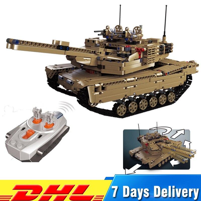 DHL Lepin 20070 véritable technique télécommande RC Tank militaire guerre modèle Legoings blocs de construction briques jouets pour enfants cadeau
