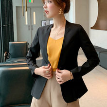 38d55a4b1f PEONFLY Slim Blazers Women Single Button Blazer Black Plus Size Office Lady  Work Suit Basic Jacket