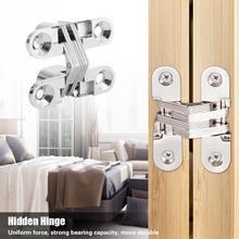 Invisible Concealed Cross Door Hinge Zinc Alloy Hidden door hinges for Cabinet Cupboard Closet Wardrobe Furniture Hardware