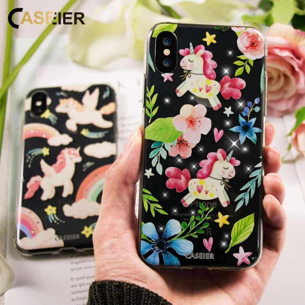Caseier модный прозрачный Стильный чехол для iPhone X 7 шикарный Мягкий силиконовый чехол из ТПУ для iPhone 5s 6 6S 7 8 Plus Funda Capinha Capa