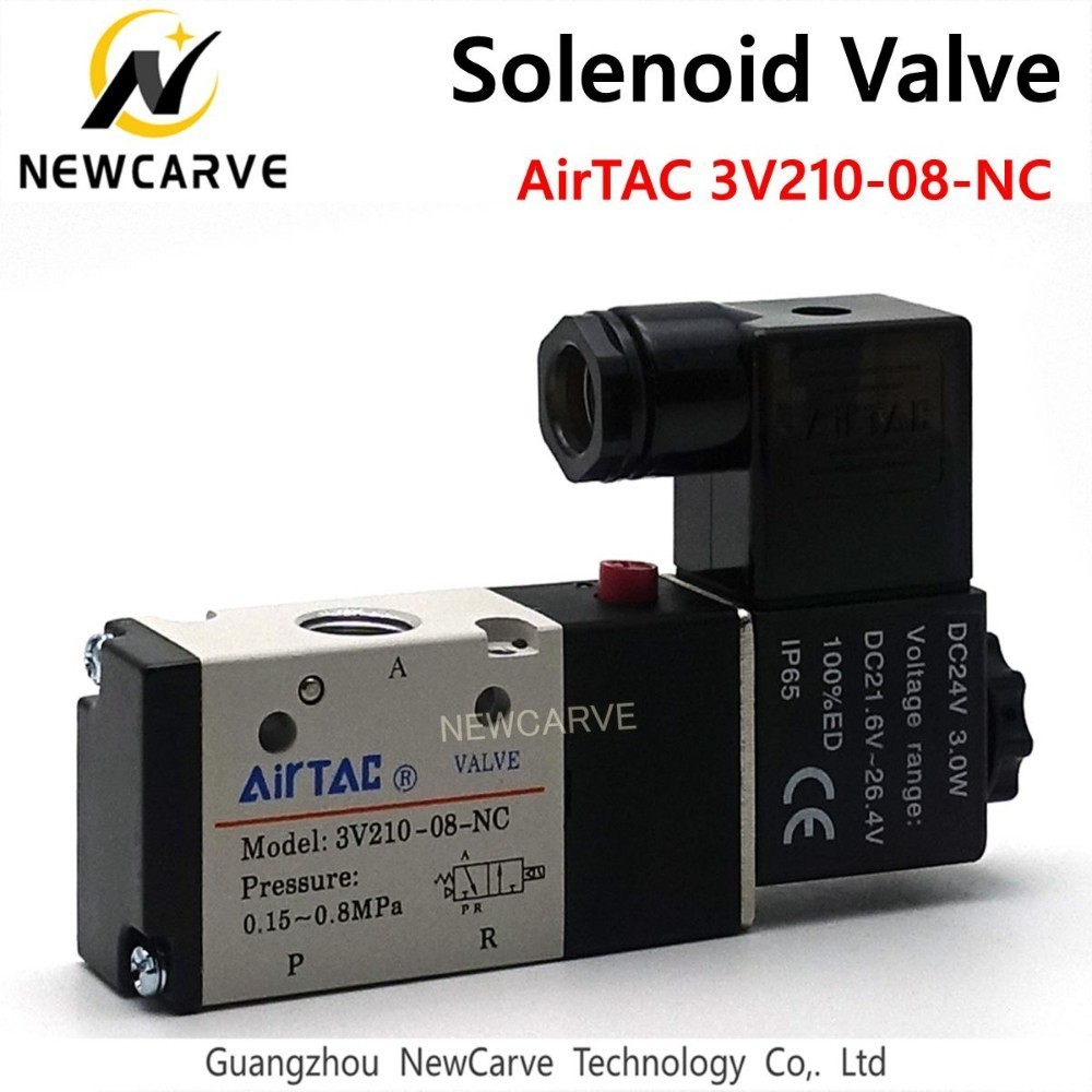 ATC Spindle Solenoid Valve Airtec 3V210-08-NC 220V 24V Two Three Valve Normally Closed Magnetic Valve NEWCARVE