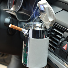 Car Portable Cigar Cigarette Ashtray Smokeless Carbon Fiber Car Ashtray With Led Light chiziyo newest car portable cigar cigarette ashtray smokeless carbon fiber car ashtray with led light