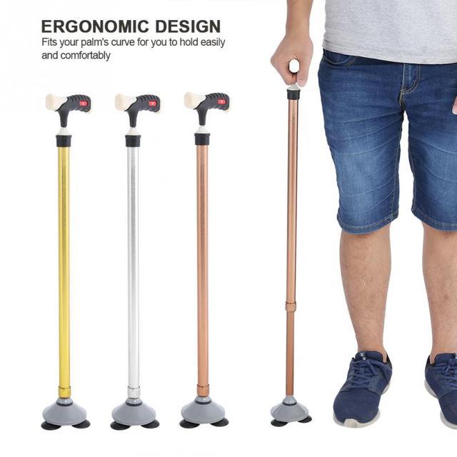 Antypoślizgowa metalowa trzcina starsza niepełnosprawność bezpieczeństwo kijki trekkingowe regulowana wysokość laska tanie i dobre opinie TMISHION Walking Stick