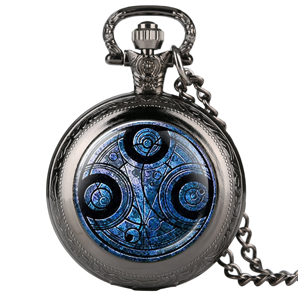 Novel Analog Quartz Pocket Watch For Men Doctor Who Theme Pocket Watches For Teenager Boy's Necklace Chain Watch Gift