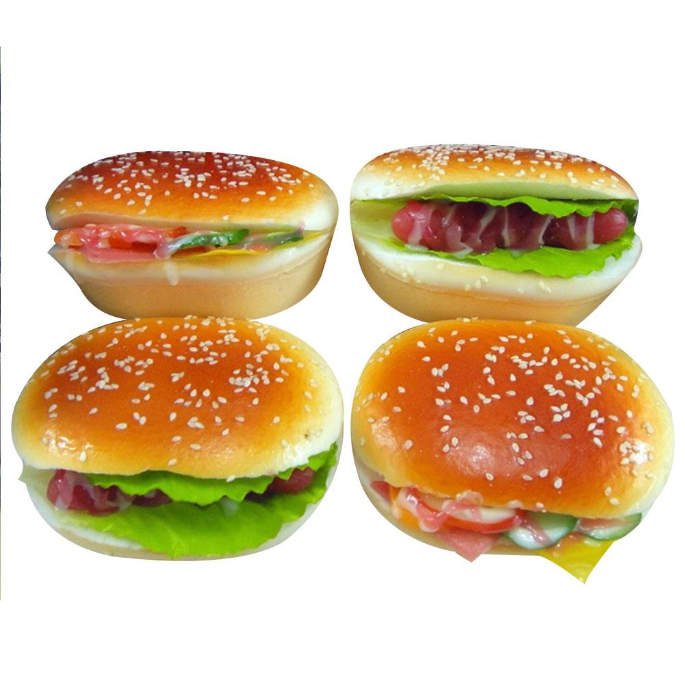 Funny Simulation Burger Slow Rising Toy Children/Adult Vent Soft Squeeze Stress Relieve Toy
