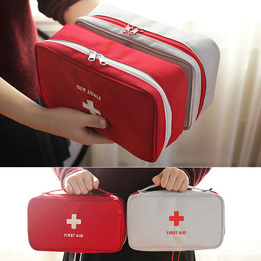 Hot Sale Emergency Camping Medical Pack First Aid Kit Bag Waterproof Car First Aid Kit Bag Outdoor Travel Survival Kit Empty Bag