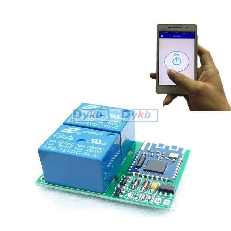 Wireless Bluetooth Relay Mobile Remote Control Switch Single Channel 5V-24V for Android Smartphone Phone