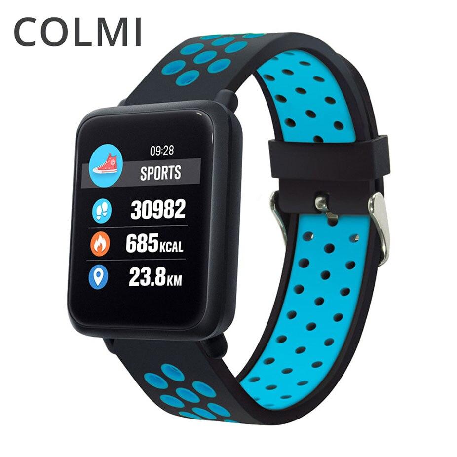 Relógio Inteligente Homens IP68 COLMI Atividade rastreador De Fitness monitor de freqüência cardíaca à prova d' água Esporte mulheres banda inteligente PK CF58 V11