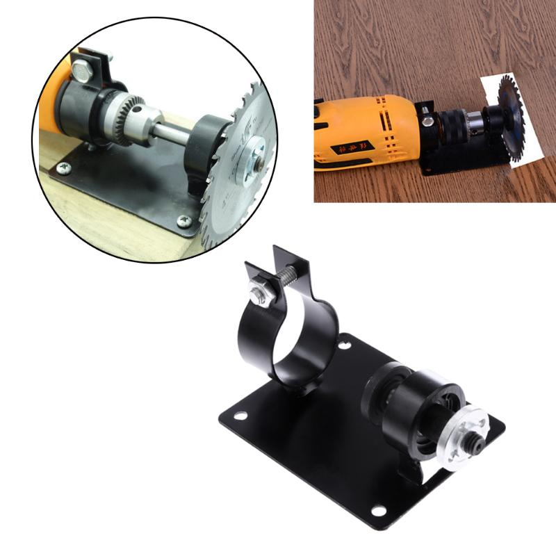 Electric Drill Base Cutting Polishing Grinding Seat Stand 10/13mm Holder Set With 2 Wrenches 2 Gaskets For Cutting Tools