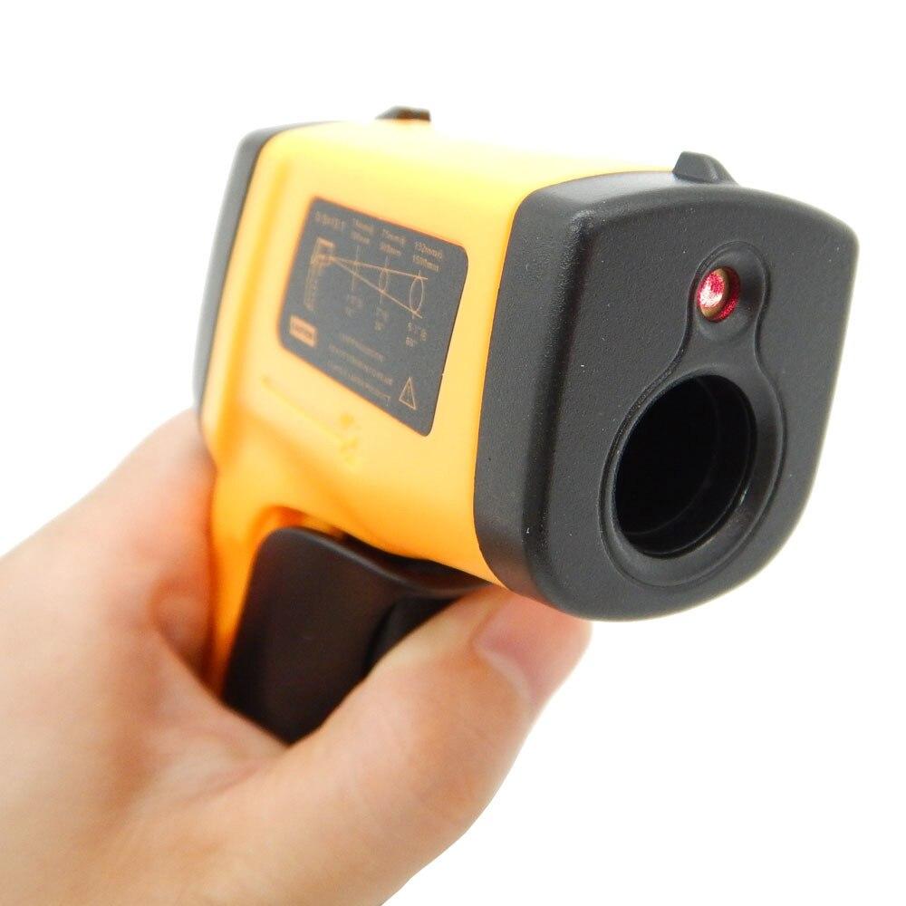 Image 5 - Цифровой термометр бесконтактный инфракрасный температурный  пирометр ИК лазерный точечный пистолет 50 ~ 400 градусов тепловизор  метеостанцияweather stationpoint gunnon contact infrared -