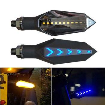 2 Uds. Luces LED De Señal De Giro Para Motocicleta, Luces Azul ámbar Amarillo De Alta Calidad, Diseño De Forma De Pistola De Libélula Roja