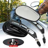 Pair Universal Motorcycle Rearview Mirror 360 Degree Adjustable For Harley/Softail/Dyna/Sportster Touring