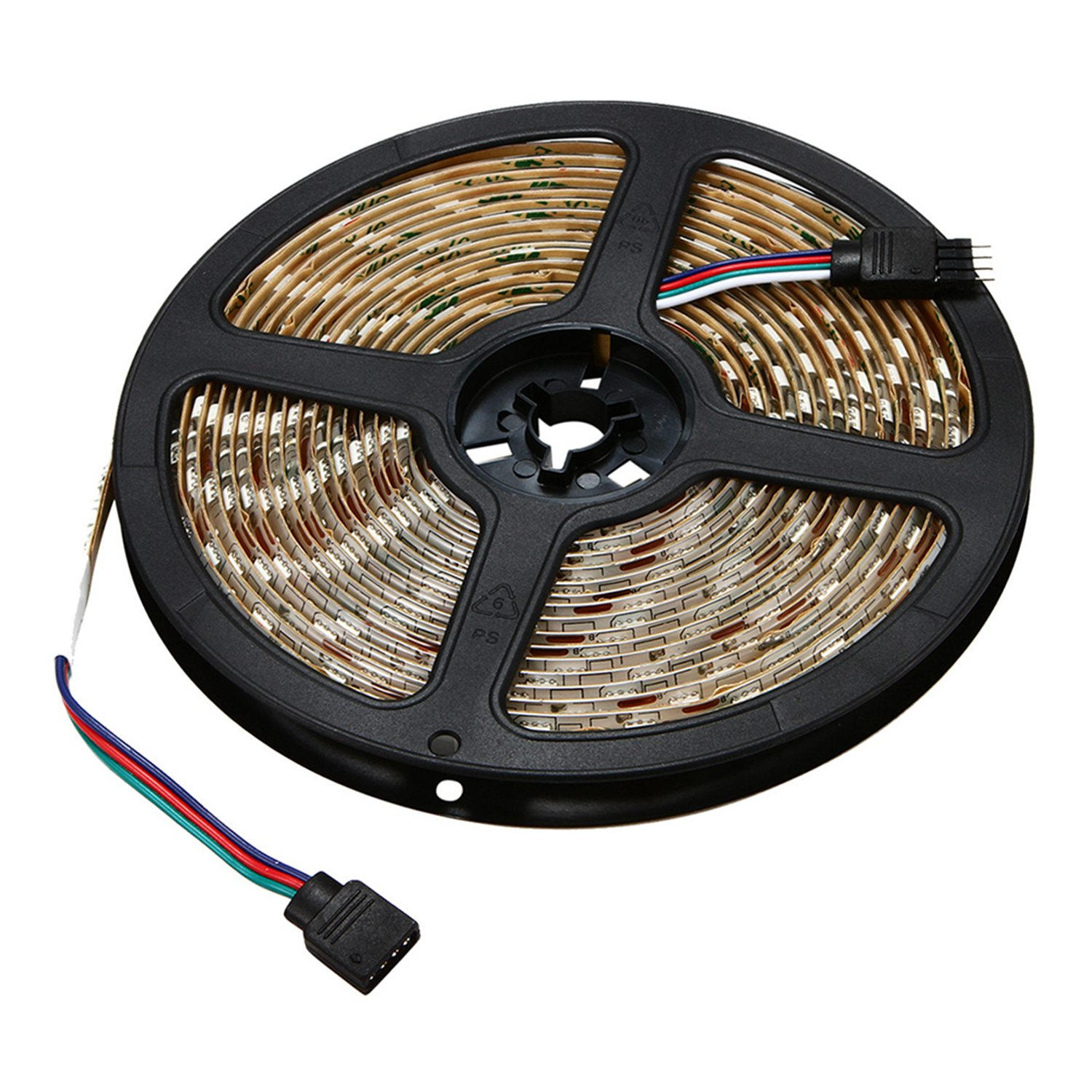 5M/16.4 Ft Smd 5050 Rgb 300 Led Color Changing Kit With Flexible Strip Light+44 Key Ir Remote Control+Power Supply