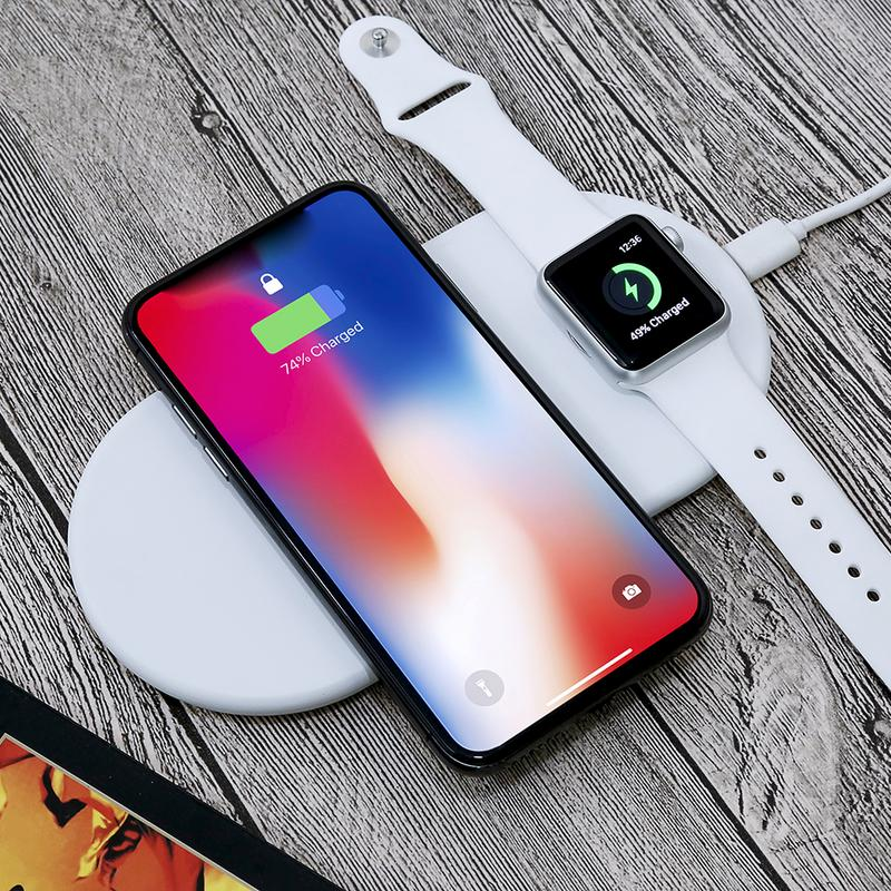 Funxim X8 2 In 1 Wireless Fast Charger For Apple Watch iPhone 8 8Plus X Samsung S8 S8+Funxim X8 2 In 1 Wireless Fast Charger For Apple Watch iPhone 8 8Plus X Samsung S8 S8+