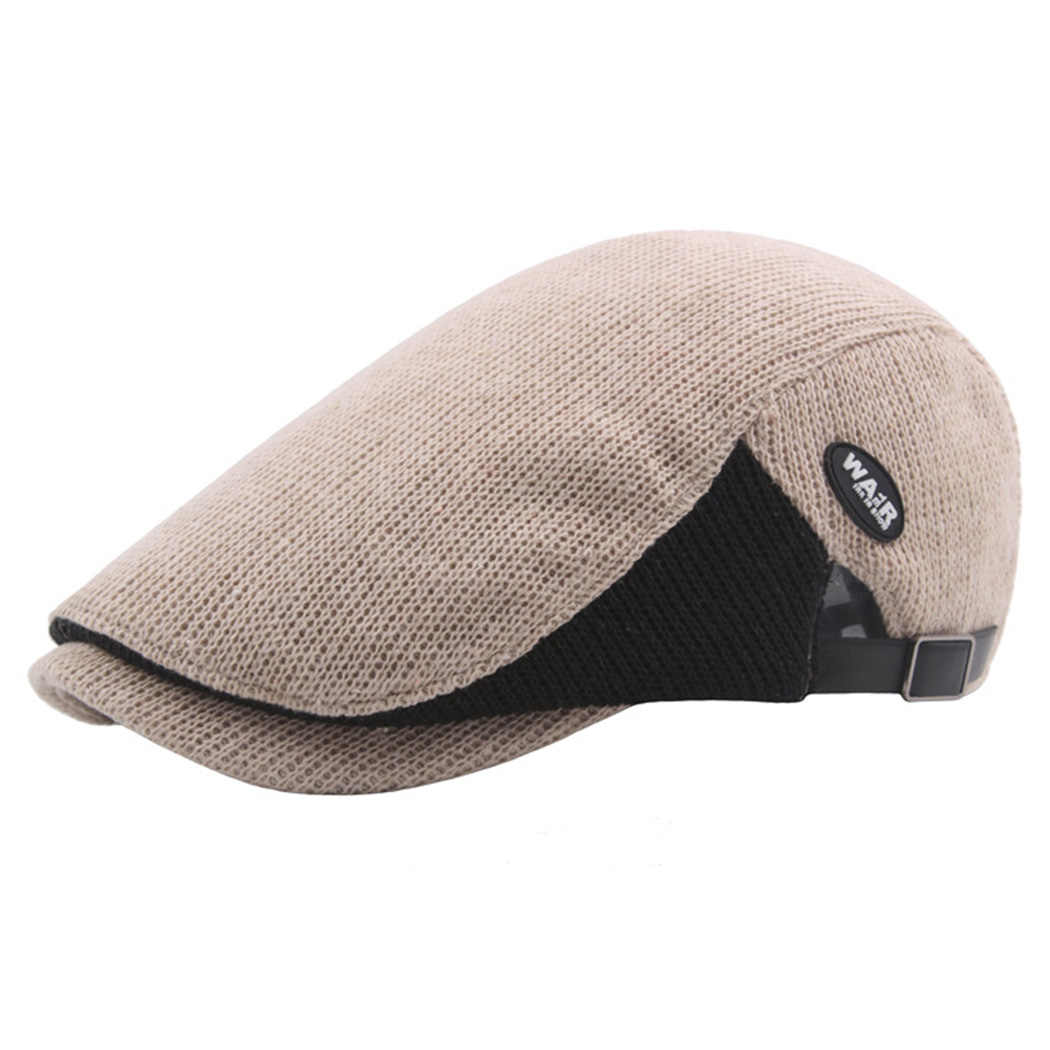 2481c51a423553 Detail Feedback Questions about Patchwork Flat Caps For Men British ...