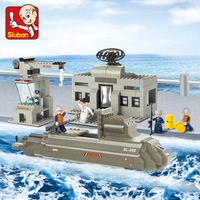 Sluban B0123 Army Navy Military Nuclear Submarine Ship 3D Model DIY Building Blocks Bricks Assembly Toy fit Legoings no Box