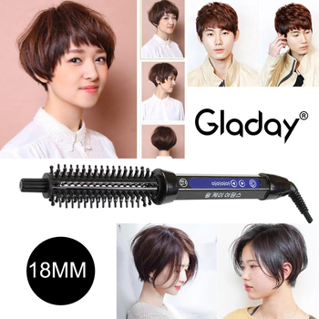 bed head hair curler c 901a electric hair straightener flat iron with styling curler curling brush pink hair wand 2016 new Gladay Hair Curling Brush Comb Curling Iron Ceramic Hair Curler Straightener Men Short Hair Big wave Electric Hair Styling Tool