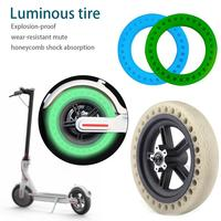 New Fluorescent Tire Solid Wheels For Electric Scooter Shock Absorption Scooter Accessories For Xiaomi M365