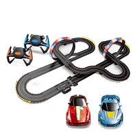 Большой пульт дистанционного управления гоночный трек игрушка набор петель Электрический слотовые автомодели гонка трюк петля 2 управлени
