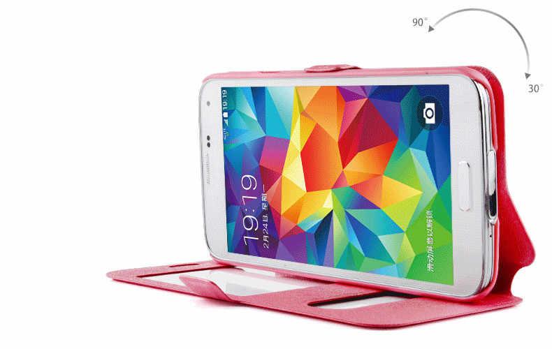 Lüks Akıllı Ön Pencere Görünüm Deri Kapak samsung kılıfı Galaxy S8 S9 Artı J1 J3 J5 J7 A3 A7 A5 2016 2017 Grand Başbakan