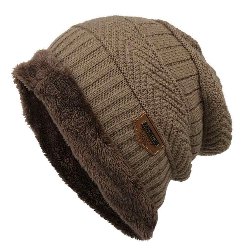 fe3b72e12abccf Women Fleece Winter Fashion Hat Beanie Warm Men Color Knitted Contrast