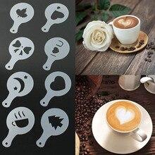 Mold Coffee Stencils Template Decor-Tools Kitchen-Gadgets Foam-Spray Barista Plastic