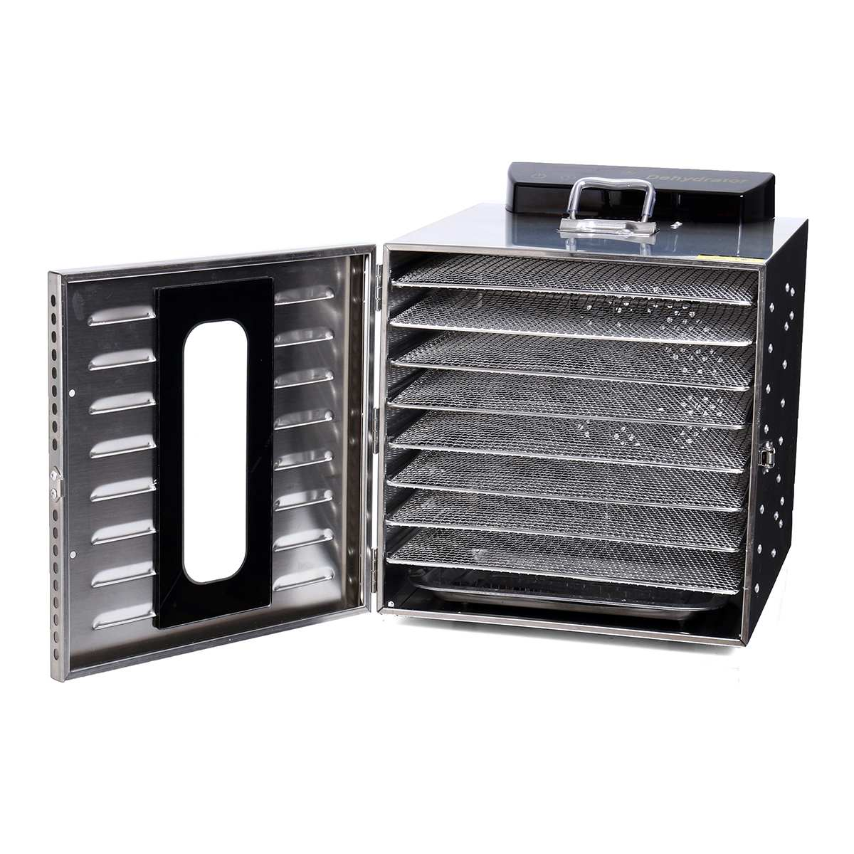 8 Layer Commercial Professional Fruit Food Dryer Stainless Steel Food Fruit Vegetable Pet Meat Air Dryer Electric Dehydrator