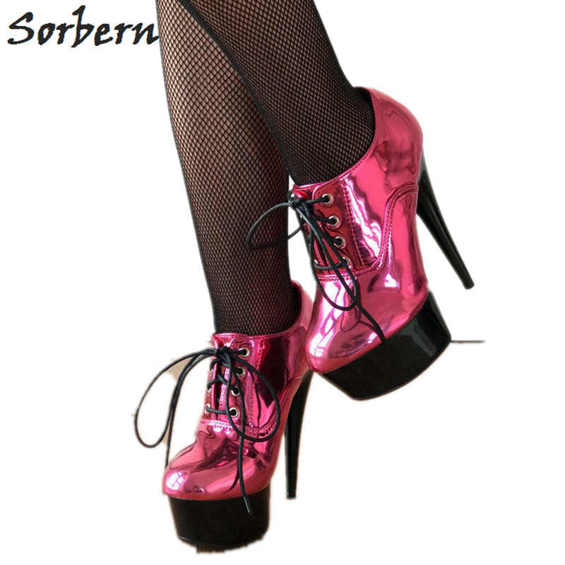 Sorbern Metallic Peach Women Pumps Lace