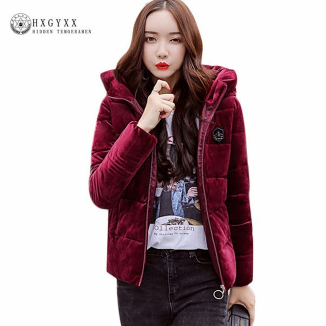 753f3b4ef40 Corduroy Stand Collar Quilted Jacket Women Winter Coats Plus Size Slim  Parka Female Short Solid Zipper Warm Outwear 2018 Okd334