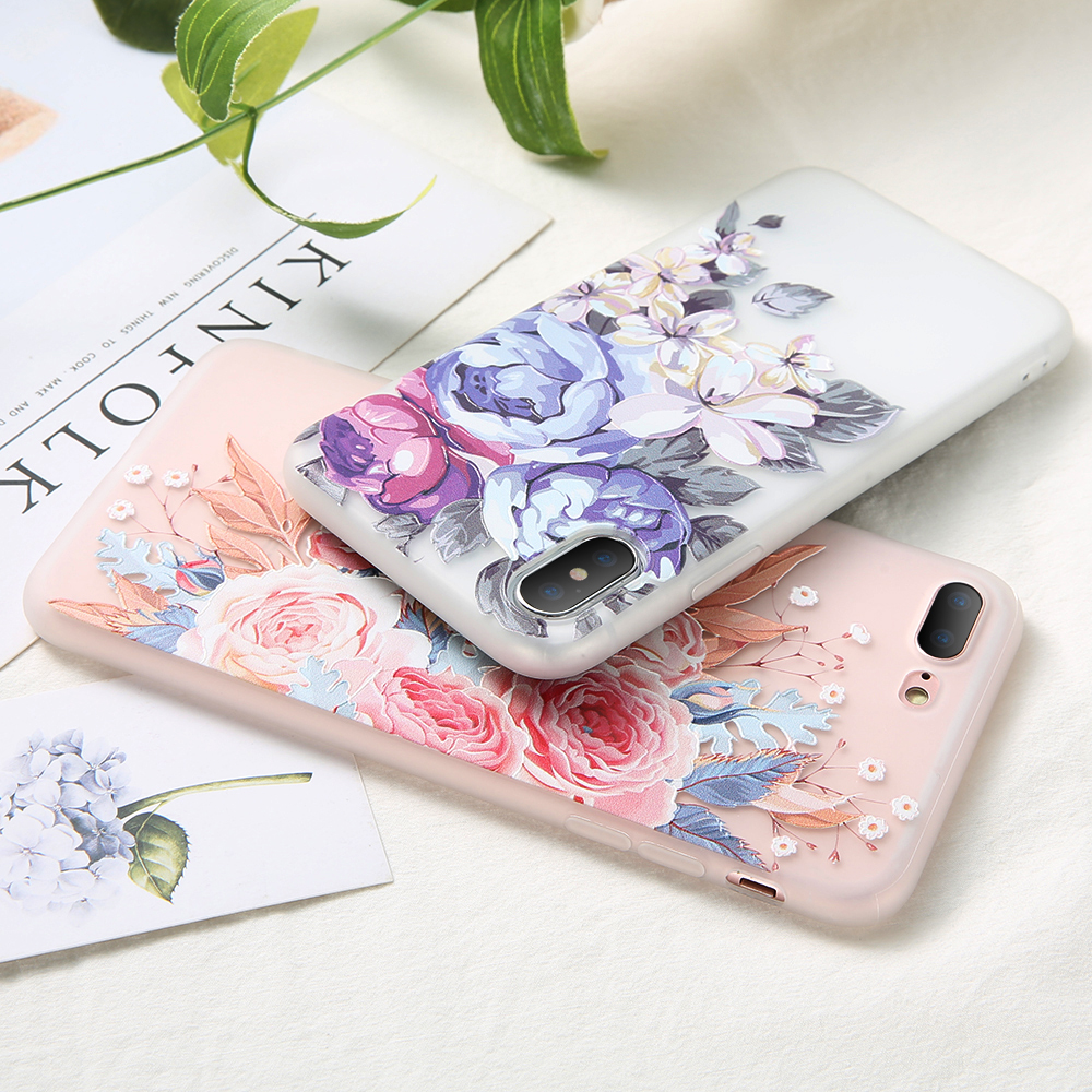 Image 4 - KISSCASE 3D Relief Flower TPU Phone Case for Xiaomi Redmi Note 7 6 5 Pro 4 4X 4A 5A 5 Plus 6A 6 Pro Redmi GO Soft Case Cover-in Fitted Cases from Cellphones & Telecommunications