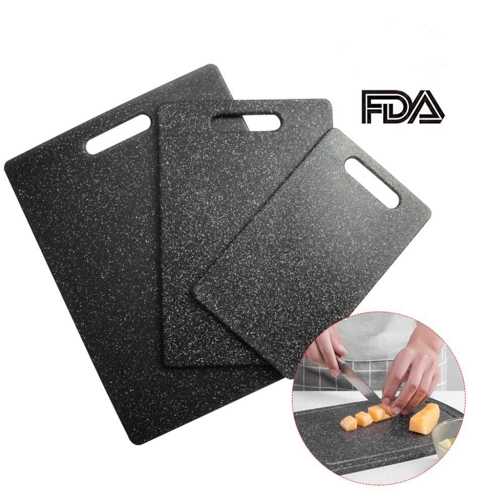 1X Plastic Cutting Board TPR Material Kitchen Chopping Board Set(3-Piece) Unique Marble Appearance Design Dishwasher safe