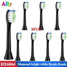 Черные сменные насадки для Philips Sonicare FlexCare HealthyWhite Essence и EasyClean HX6063/64 электрическая зубная щетка
