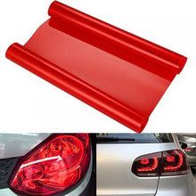 "12x60"" inches Glossy Red Tint Vinyl Wrap Sticker Headlight Film Car Light Lamp Vinyl Red 150*30cm/60*12 inches(China)"