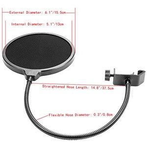 Image 5 - NB 35 Держатель для микрофона с подвеской на руку и зажим для крепления на стол для поп фильтра Комплект для защиты от ветрового стекла CCDD